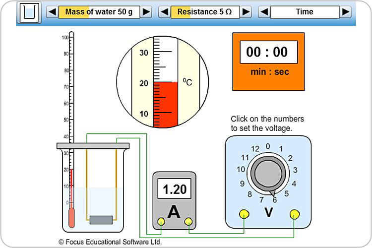 Electric Heating Iron Effect ~ Heating effect of a current by focus educational software