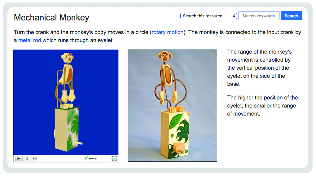 Mechanical monkey