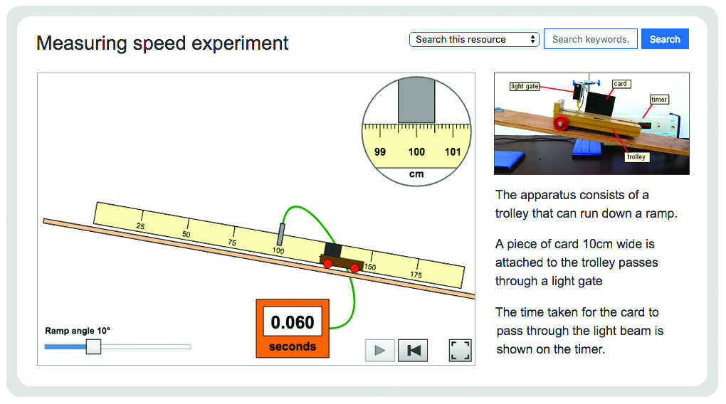 Measuring speed experiment