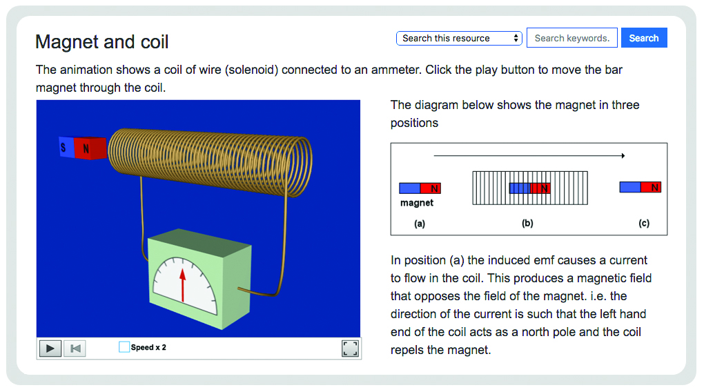 electromagnetic induction: magnet and coil