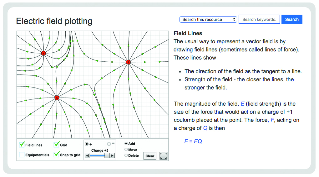 Electric field plotting