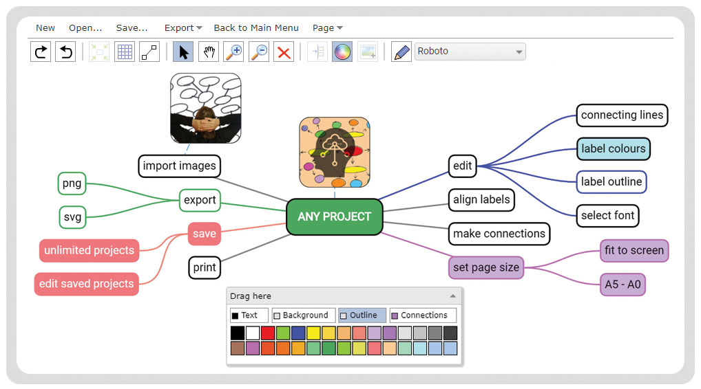 Mind Map Designer screenshot