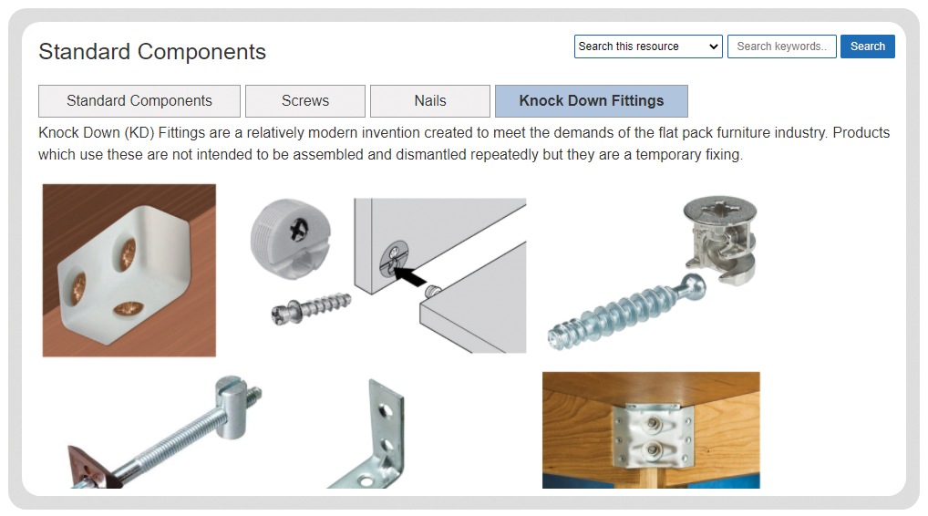 timber based materials - standard components