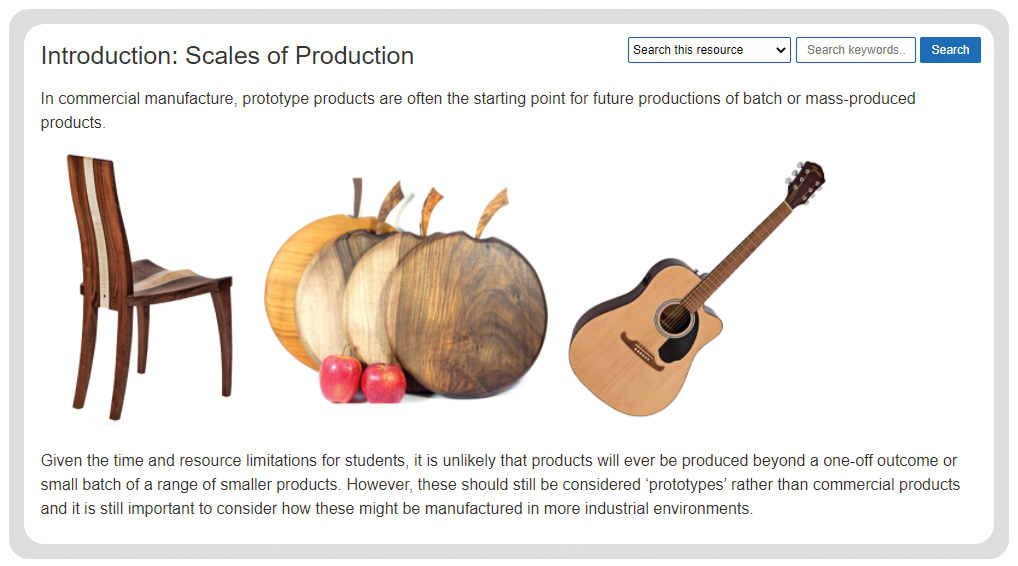 timber based materials - scale of production