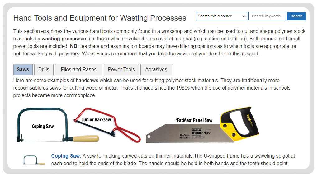 polymer materials hand tools
