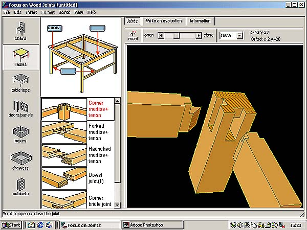 Design technology wood joints by focus educational software for Furniture layout software