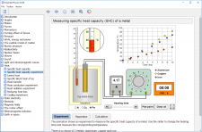 Measuring specific heat capacity (SHC) of a metal